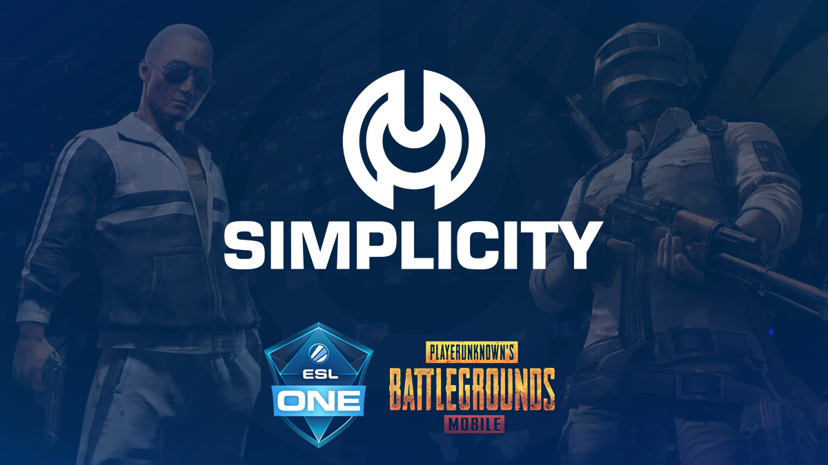 Simplicity PUBG Mobile to compete in the ESL One New York LAN.