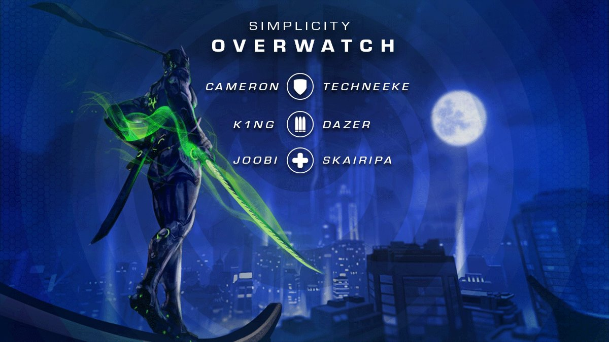 Simplicity Overwatch Trial of Champions Roster