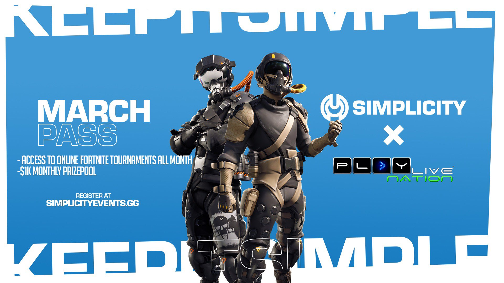 Simplicity Fortnite Tournament March Pass Is Now Available!